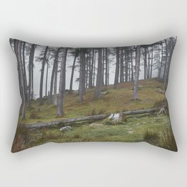 Trees in the fog. Tarn Hows, Cumbria, UK. Rectangular Pillow