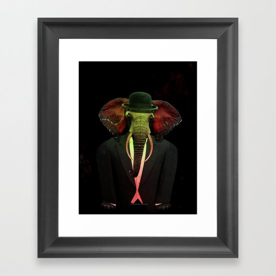 Elephant Man 017 Framed Art Print