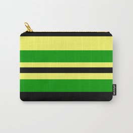 Jamaican Inspired Strips Carry-All Pouch