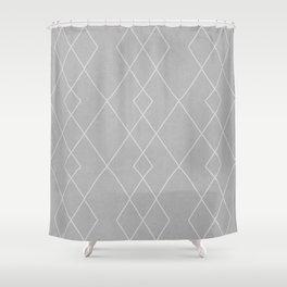 Fine diamond lines on dove grey Shower Curtain
