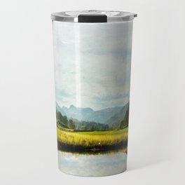 Textured Fine Art lake District Landscape  Travel Mug