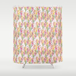 Yellow Pink Pretty Floral Shower Curtain