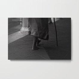 On foot Metal Print