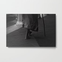 On foot Metal Print