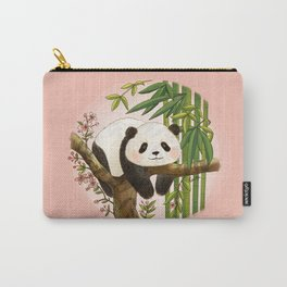 Panda under sunlight - Pink Carry-All Pouch