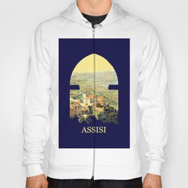 Vintage Litho Travel ad Assisi Italy Hoody