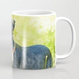 Miniature Schnauzer Watercolor Digital Art Coffee Mug