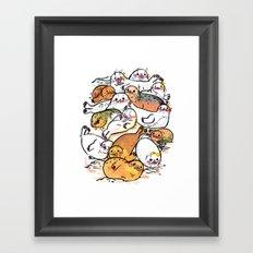 Seal family Framed Art Print