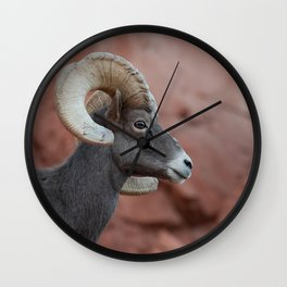 Desert Bighorn, Valley of Fire - II Wall Clock