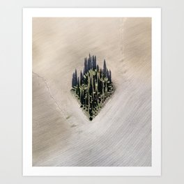 Cipressi toscani Art Print