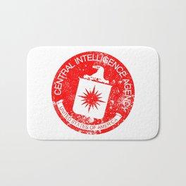 CIA Rubber Stamp Bath Mat
