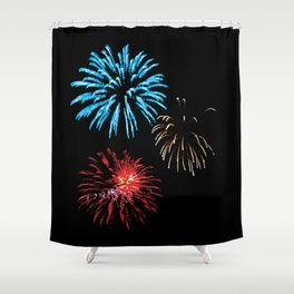 Patriotic Fireworks Shower Curtain