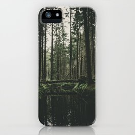Faded Forest iPhone Case
