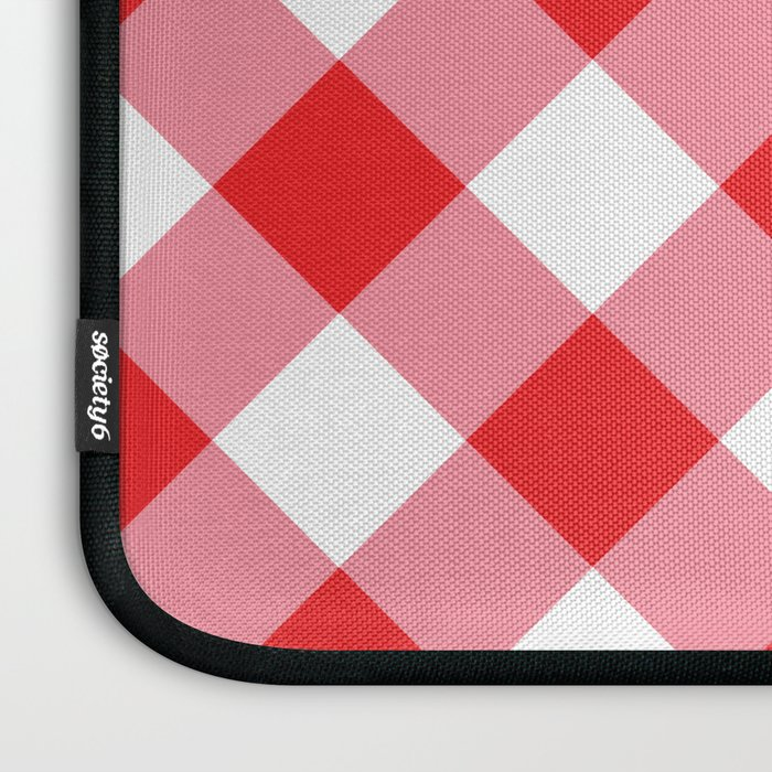 Gingham - Red Laptop Sleeve
