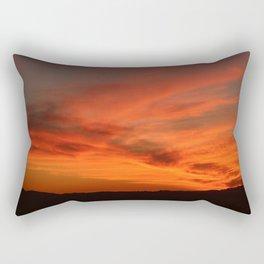 Red and Orange October Sunset Rectangular Pillow