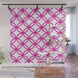 Interlocking Pink Wall Mural