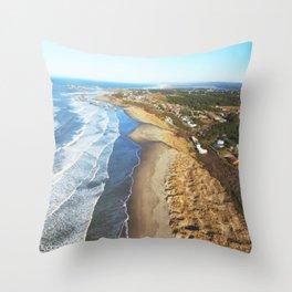 coastline cruise Throw Pillow