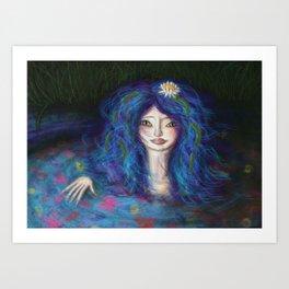 Women in Water Art Print