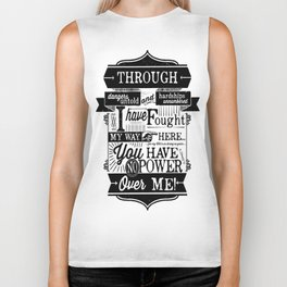 Labyrinth Quote You Have No Power Over Me Biker Tank