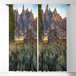 Wyoming - Moulton Barn and Grand Tetons Blackout Curtain