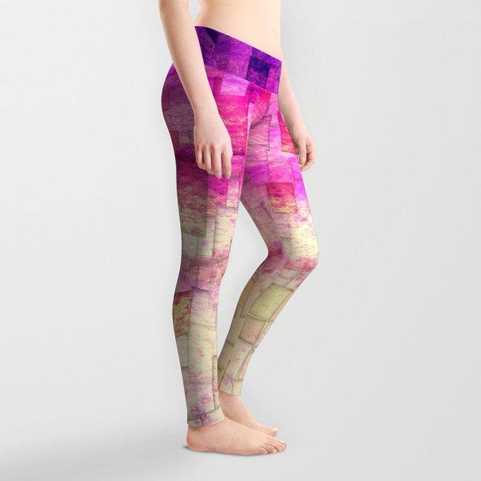 Pink Sea Mosaic Leggings
