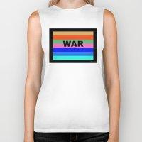 war Biker Tanks featuring WAR by Tillus