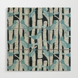 For the Birds and Birch Trees Wood Wall Art