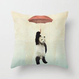 Pandachute Throw Pillow