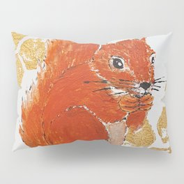 Squirrel Red & Gold Pillow Sham