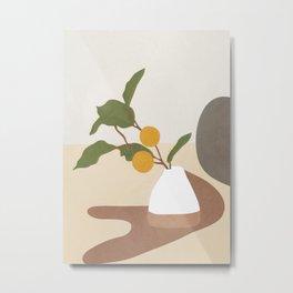 Mandarin Branch Metal Print