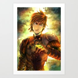 Hiccup Art Print
