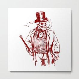 Skeleton gentlemen - Elegant zombie Metal Print