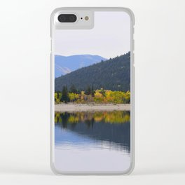 Fall Reflections Clear iPhone Case