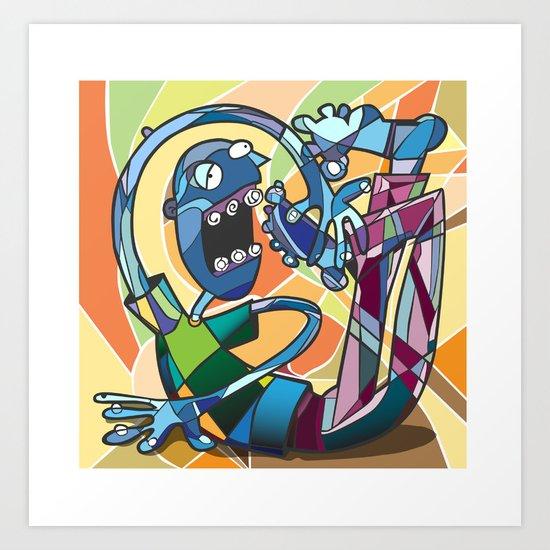 Fragmented Reality Art Print
