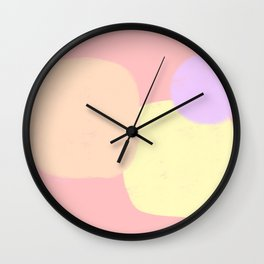 Let's Appreciate Our Shapes no.10 - pink modern minimalist art simple design Wall Clock