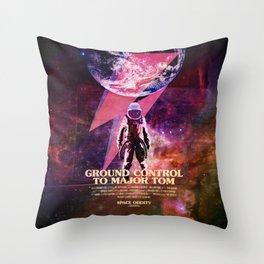 Rocket man (former Space Oddity) Throw Pillow
