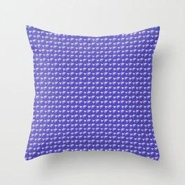 Blue spheres texture Throw Pillow