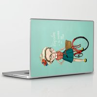hipster Laptop & iPad Skins featuring Hipster by Maripili