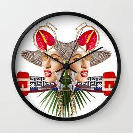 Faces by Lenka Laskoradova Wall Clock