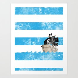 Pirates Love Stripes Art Print