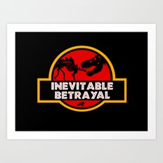 Jurassic Betrayal Art Print