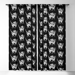 Devil Kitty - inverted Blackout Curtain
