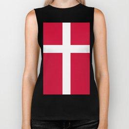 Danish Flag Biker Tank