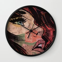 Comic girl affiche poster Wall Clock