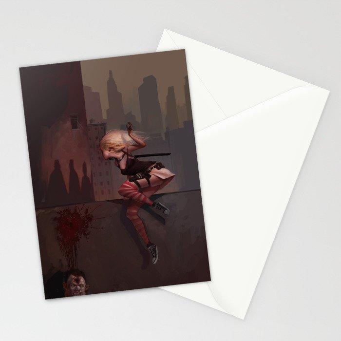 Bambi the Zombie Slayer Stationery Cards
