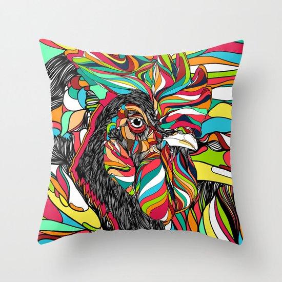 Tropical Cock (Feat. Bryan Gallardo) Throw Pillow
