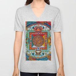 Buddhist Medicine Mandala 2 Unisex V-Neck