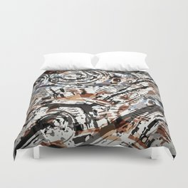 Reverse Abstract V-Twin Duvet Cover