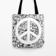 Peace Doodle Tote Bag