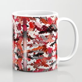Black, White and Red Tapestry Coffee Mug